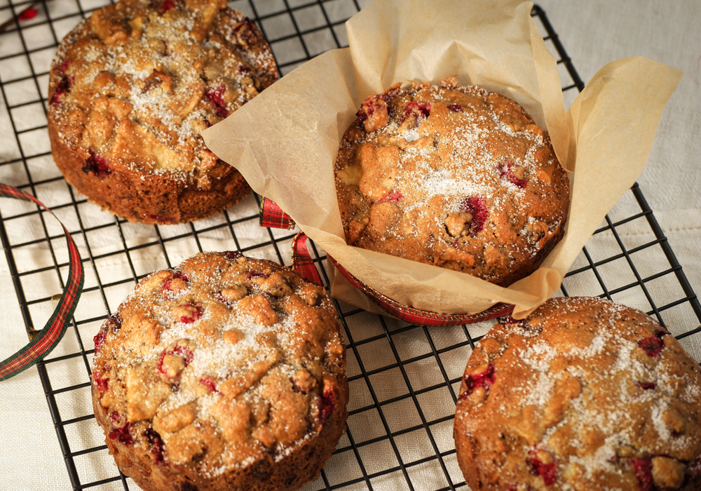 Apple Cranberry Walnut Cake