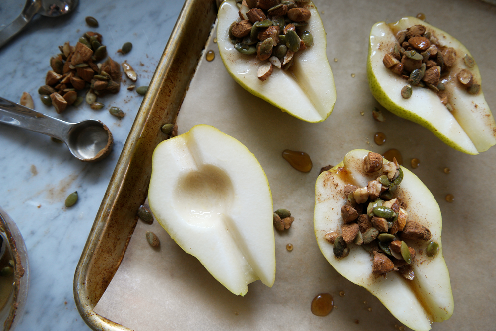 Baked Pumpkin Spice Pears
