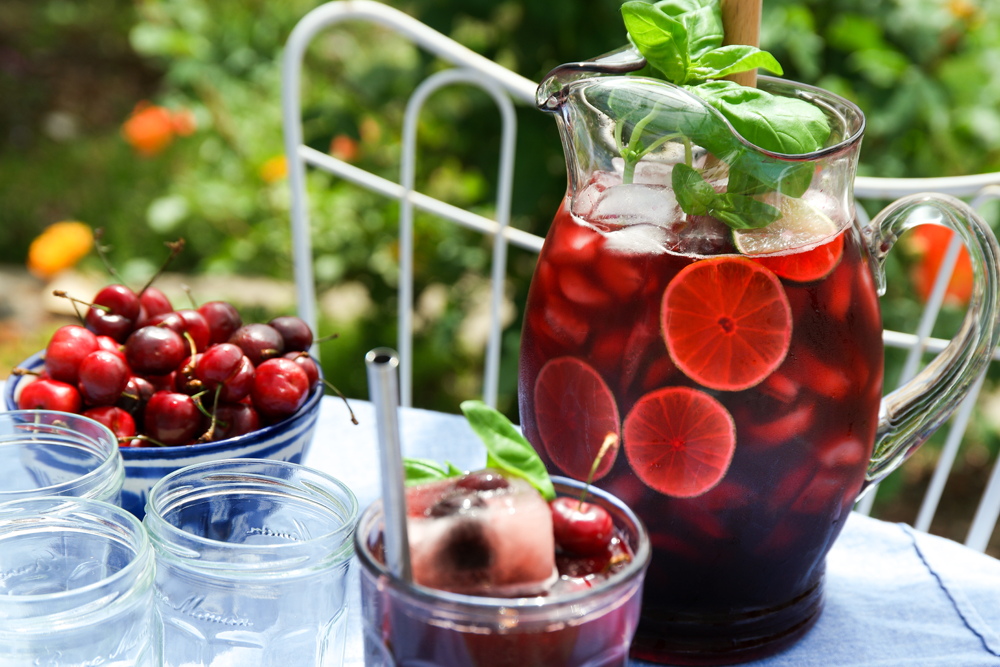 Cherry Basil Hibiscus Tea