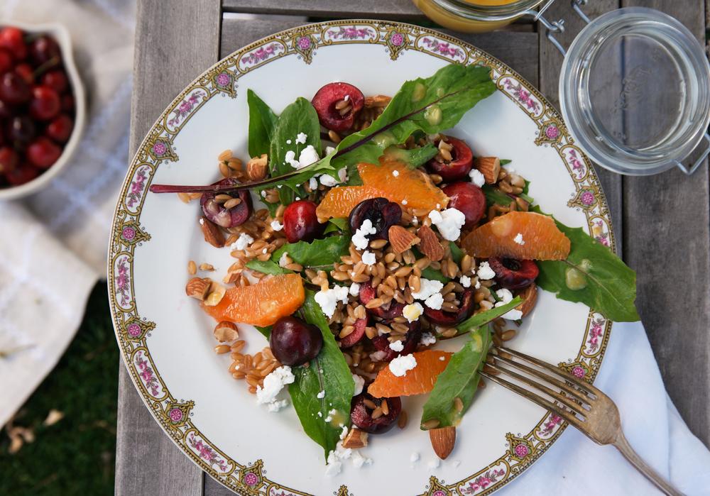 Cherry Farro Salad