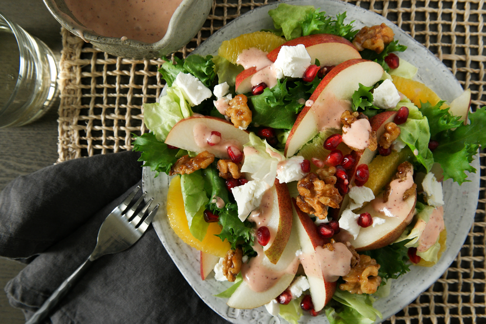 Crimson Pear Salad