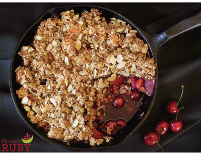 Orondo Ruby Cherry Plum Crisp