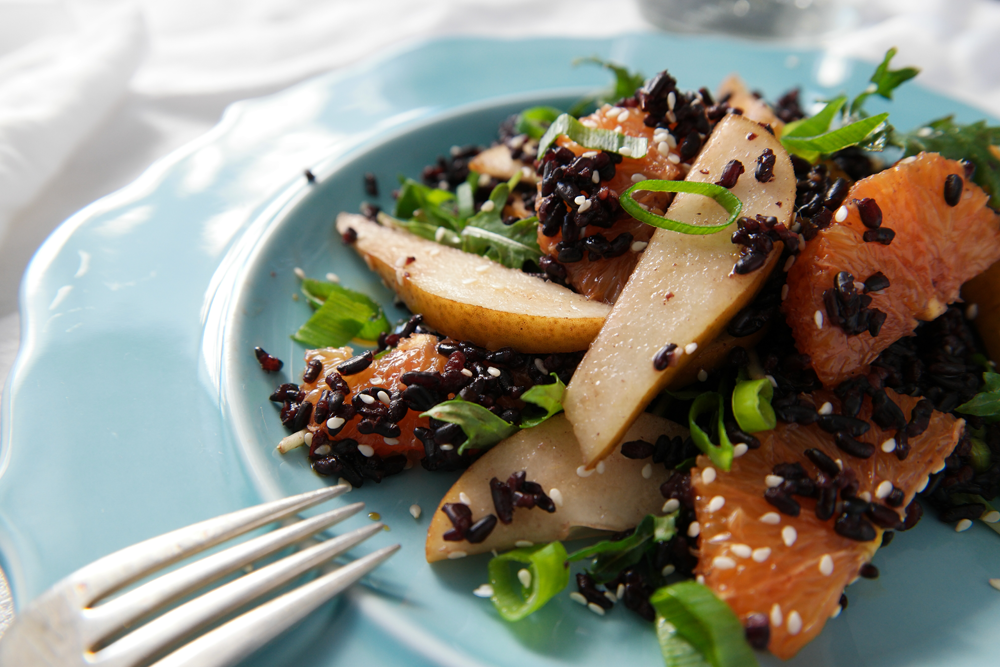 Pear Black Rice Salad