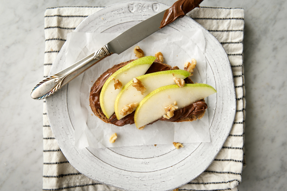 Pear Nutella Toast