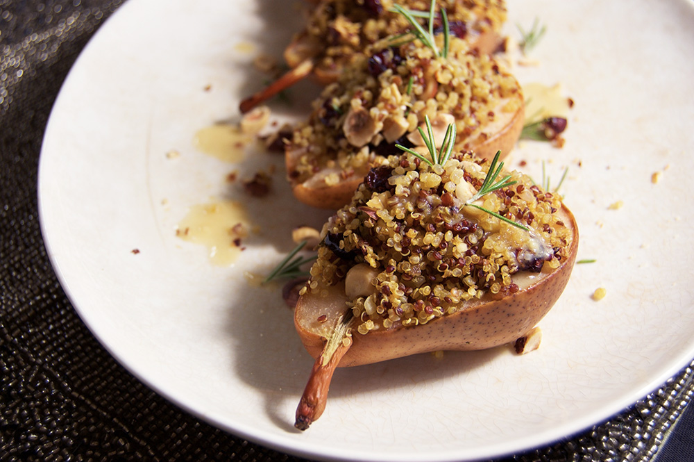 Quinoa Stuffed Pears