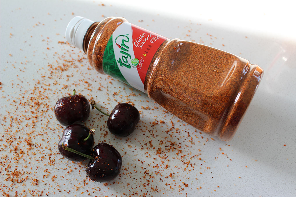 Tajin and cherries