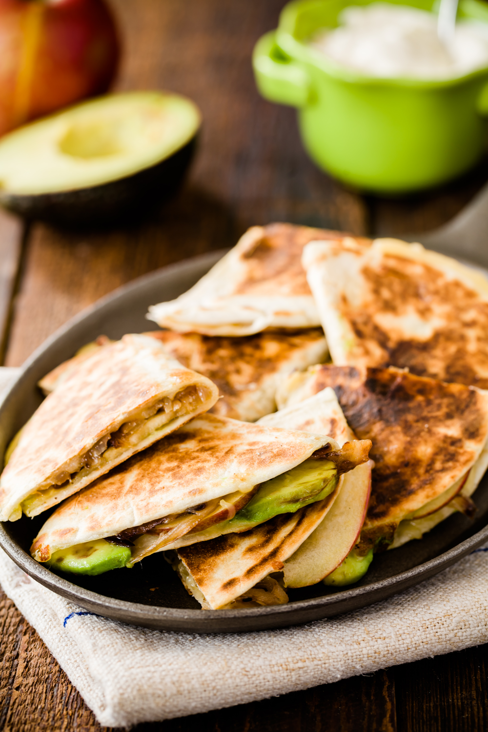 Apple Avocado Quesadilla Bites