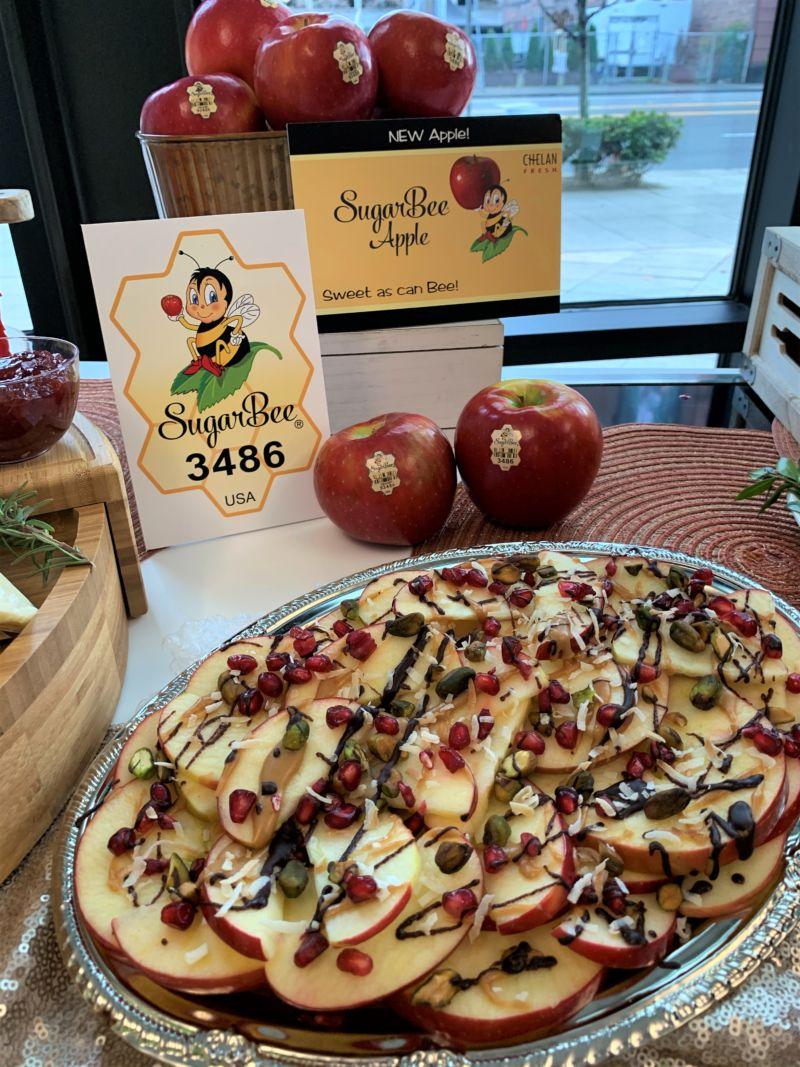 SugarBee apple holiday nachos