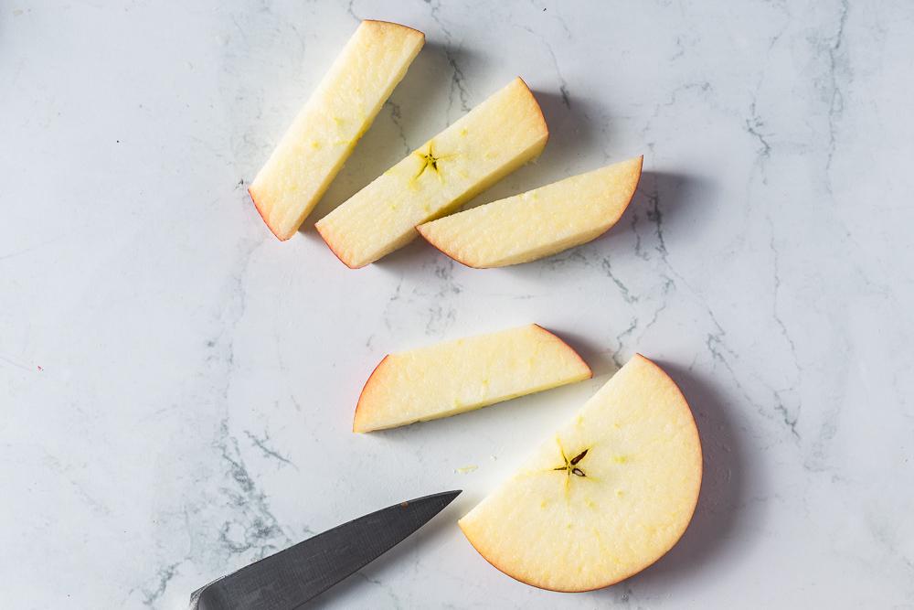 Shaved Slice apple cutting method